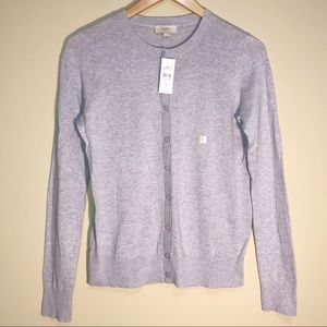 LOFT Cardigan Sweater NEW Light Purple Heather